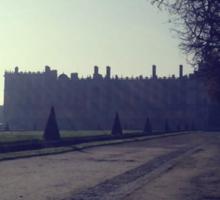 Perspective hivernale sur le chateau de St Germain en Laye Sticker