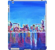 Neon Shimmering Skyline of Chicago at Night iPad Case/Skin