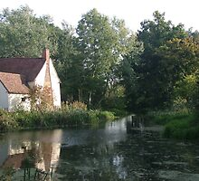 The Hay Wain minus horse and cart by InterestingImag