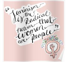 Feminism is the radical notion that women are people. Poster