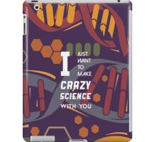 crazy science  iPad Case/Skin