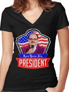 Official Ken Bone For President Shirt Women's Fitted V-Neck T-Shirt