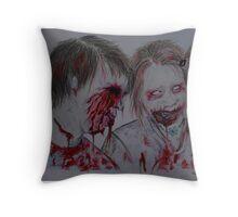 Zombie Kids Throw Pillow