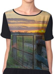 Rural Sunset Chiffon Top