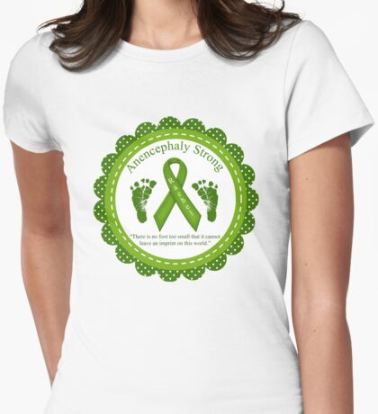 Anencephaly Strong - Rachel Grace Womens Fitted T-Shirt