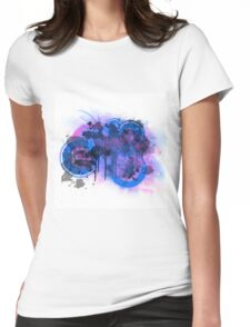Abstract Brain Mush Womens Fitted T-Shirt