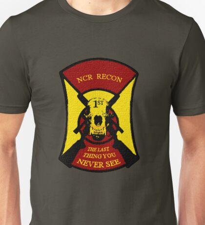 NCR 1st Recon Sticker & Tshirt Unisex T-Shirt