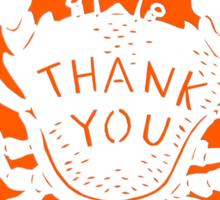 Orange Crab Thank You Sticker