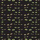 Green cat's eyes duvet by jazzydevil