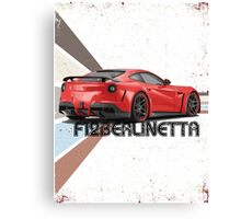Sports Car F12 - Retro Canvas Print