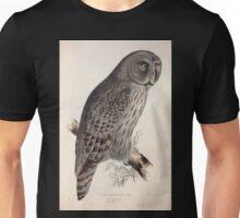 John Gould The Birds of Europe 1837 V1 V5 042 Great Cinereous Owl Unisex T-Shirt