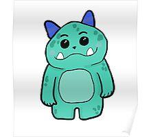 Cute Monster Cartoon Poster