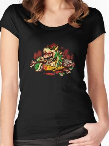 MARIO MADNESS BOWSER Women's Fitted Scoop T-Shirt