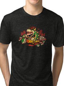 MARIO MADNESS BOWSER Tri-blend T-Shirt