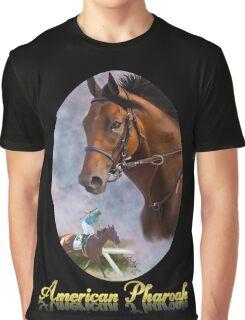 American Pharoah, Triple Crown Winner with Name Plate Graphic T-Shirt