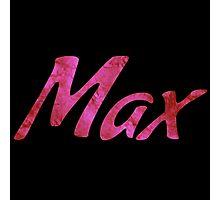 Max     (Pink) Photographic Print