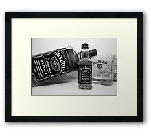 Jack Daniels On The Table Framed Print