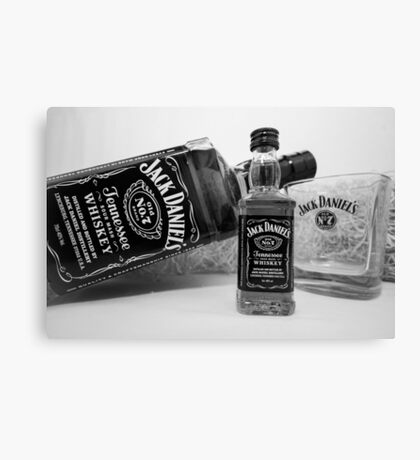 Jack Daniels On The Table Canvas Print