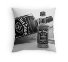Jack Daniels On The Table Throw Pillow