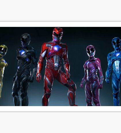 Power Rangers New Suits Sticker