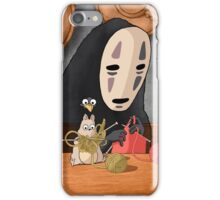 Spirited Away - Boh and No Face Knitting iPhone Case/Skin