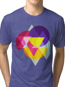 Abstract Colorful Geometric Art Tri-blend T-Shirt