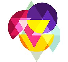 Abstract Colorful Geometric Art Photographic Print