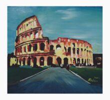 Monumental Coliseum in Rome Italy Kids Tee