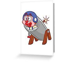 HeinyR- Clown in a Cannon Greeting Card