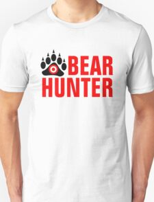 Bear Hunter Red Text T-Shirt