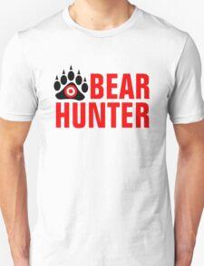 Bear Hunter Red Text T-Shirt