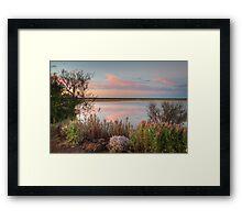 Sunset  At Malcolm Dam Framed Print