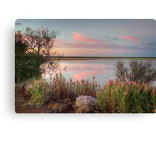 Sunset  At Malcolm Dam Canvas Print