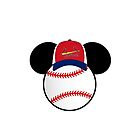 St. Louis Cardinals Mickey Mouse baseball hat by sweetsisters