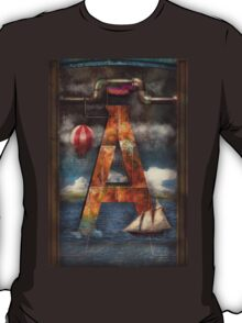 Steampunk - Alphabet - A is for Adventure T-Shirt