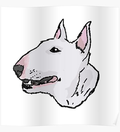 Bull Terrier (Subject 8) Poster