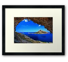 Grande Grotta, climbing paradise - Kalymnos island Framed Print