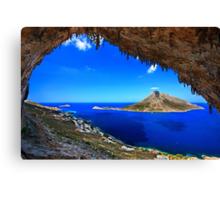 Grande Grotta, climbing paradise - Kalymnos island Canvas Print