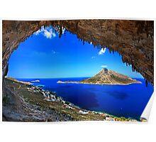 Grande Grotta, climbing paradise - Kalymnos island Poster