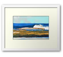 Jane Holloway |The Beach at the Entrance Framed Print