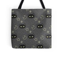 Kitty Moon Pattern Tote Bag