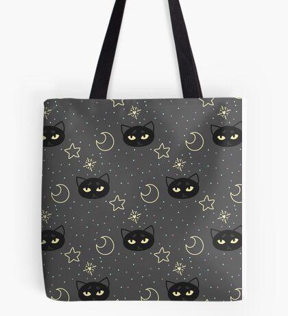 Kitty Moon Pattern Tote Bag