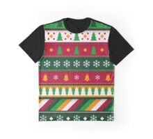Colorful Festive Christmas Pattern  Graphic T-Shirt