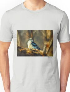 Little Downy Woodpecker In The Woods Unisex T-Shirt