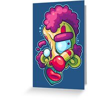 Twisted Clown Greeting Card