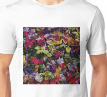 Quebec Autumn Leaves Abstract Unisex T-Shirt
