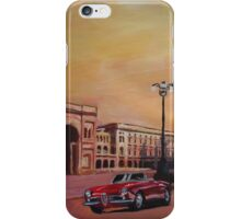 Milan Cathedral with Oldtimer Convertible Alfa Romeo iPhone Case/Skin