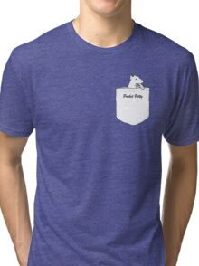 Pocket Pitty - A Pitbull in Your Pocket Tri-blend T-Shirt