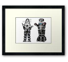 RETRO Robots Attack! Framed Print