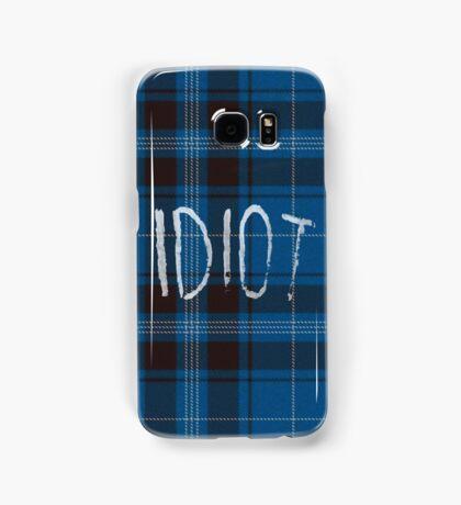 IDIOT (Blue flannel) Samsung Galaxy Case/Skin